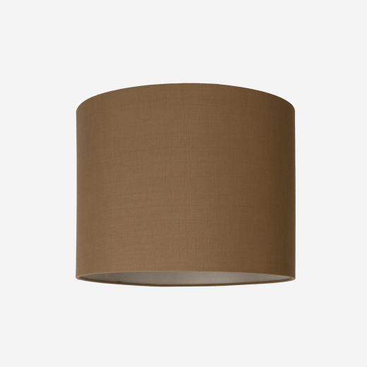 Lampeskærm råsilke dark amber 40x30