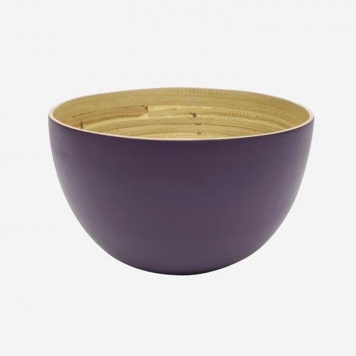 Bamboo bowl, aubergine