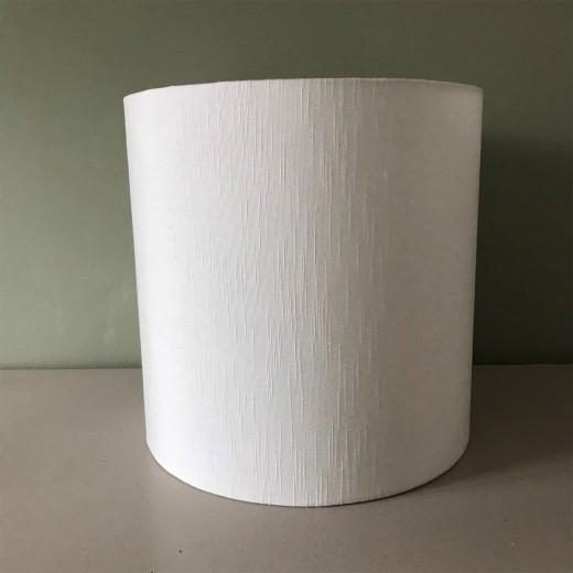 Lampshade rawsilk white 30x30 cm