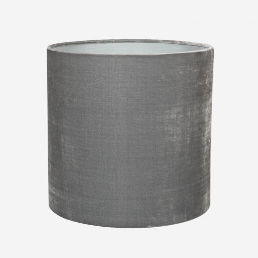 Lampshade, silk velvet, dark grey 30x30