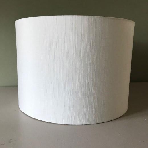 Lampshade rawsilk white 40x30 cm