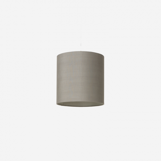 Lampshade, raw silk, grey 30x30
