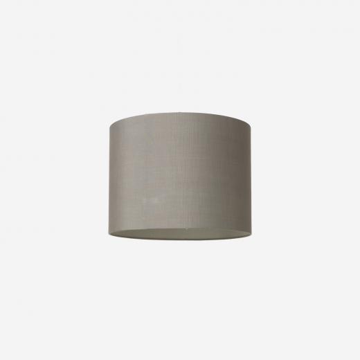 Lampshade, rawsilk, grey 40x30