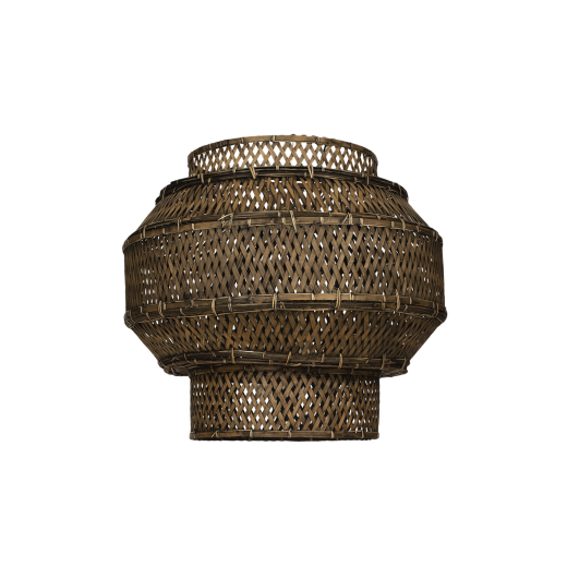 Lampshade Colonial, bamboo, black washed