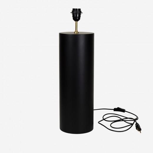 Lampstand round mat black, B