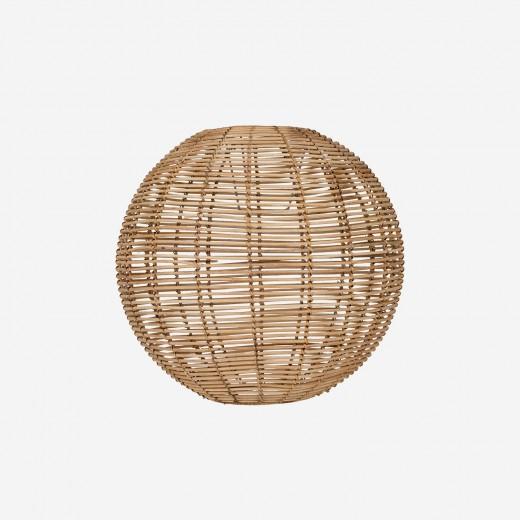 Round rattan lampshade, nature, S