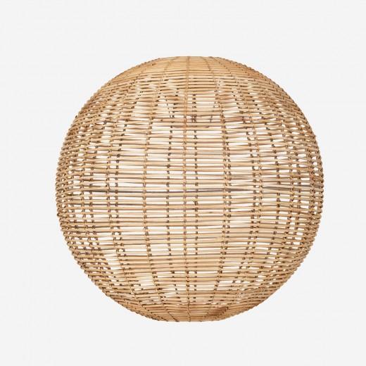 Round rattan lampshade, nature, XL