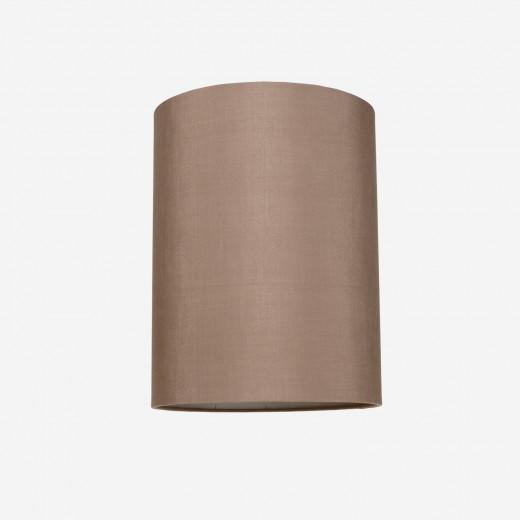 Lampeskærm råsilke rosebrown 30x39