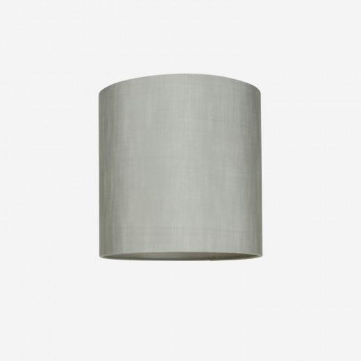 Lampeskærm råsilke dusty green 30x30