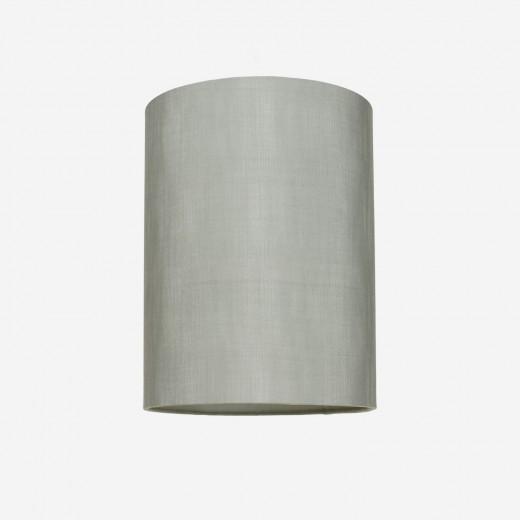 Lampeskærm råsilke dusty green 30x39