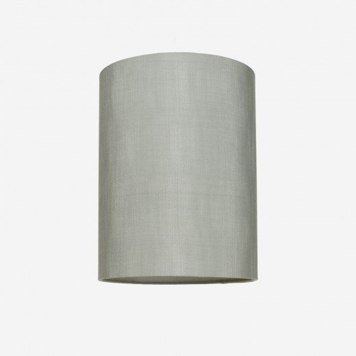 Lampshade rawsilk dusty green 30x39