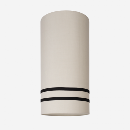Lampeskærm råsilke sand/sort 34x60