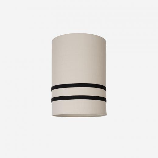 Lampeskærm råsilke sand/sort 30x39
