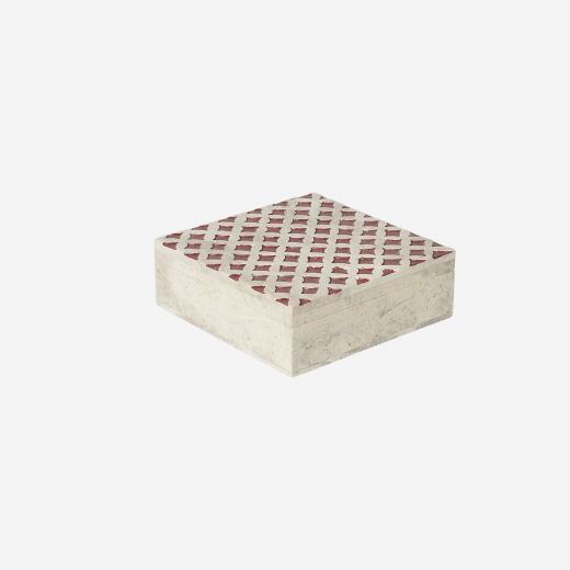 Soft stone box M warm red