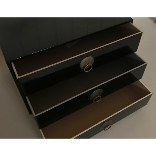 Chest of drawer, black-01