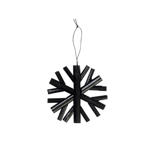 Bamboo snowflake, black