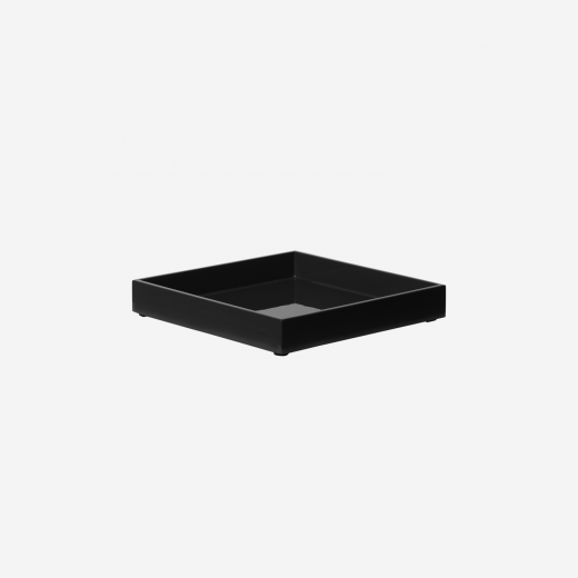 Lacquer tray 20x20 black
