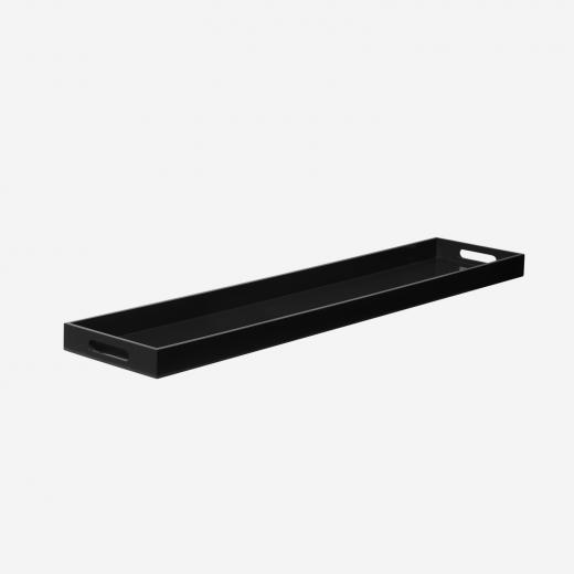 Lacquer tray 110x24 black