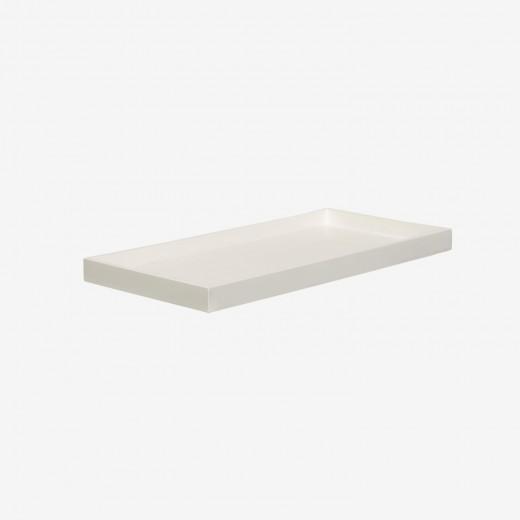 Lacquer tray 32x16 white