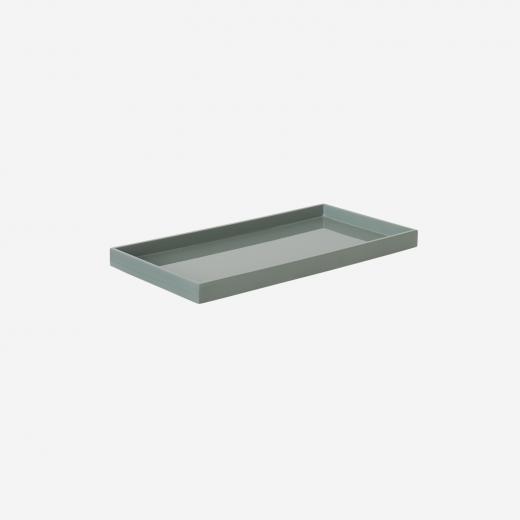 Lacquer tray 32x16 dove blue