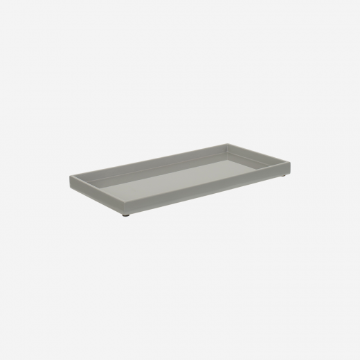 Lacquertray 32x16 cm stick grey