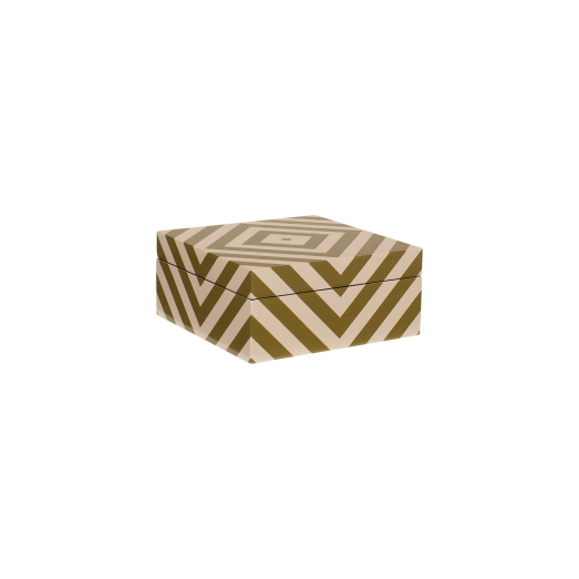 Lacquer box with stripes skin/army