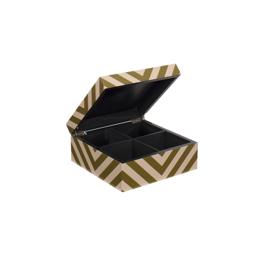 Lacquer box with stripes skin/army-01