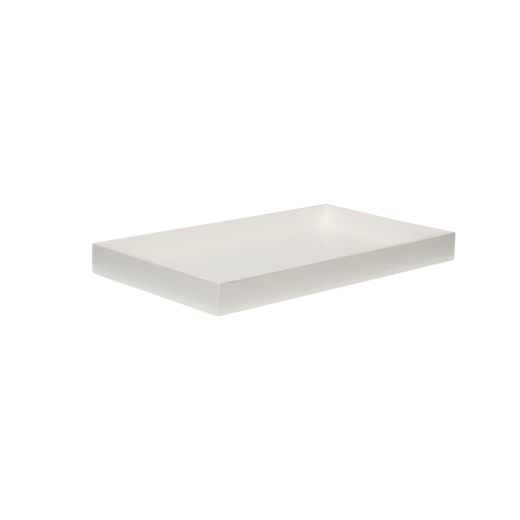 Lacquer tray 38x22 white