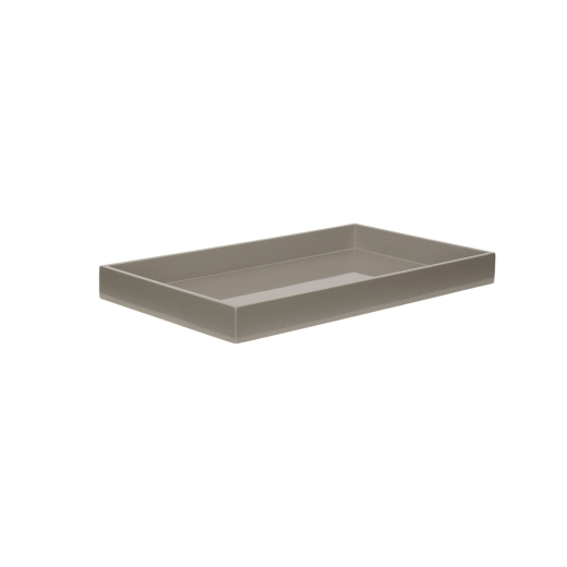 Lacquer tray 38x22 cool grey