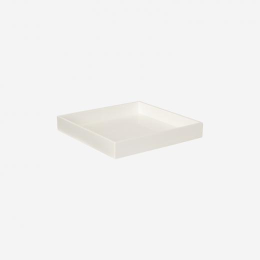 Lacquer tray 20x20 white