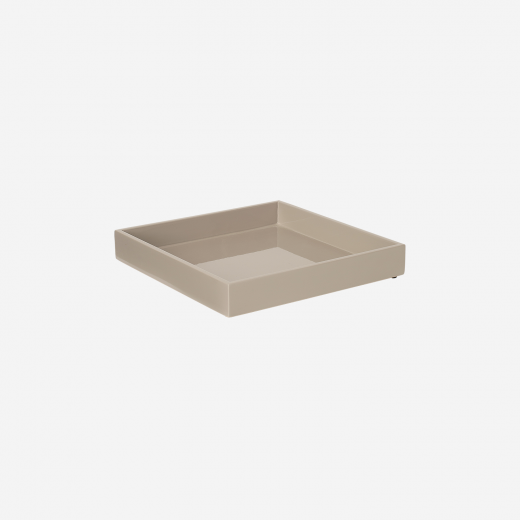 Lacquer tray 20x20 warm grey