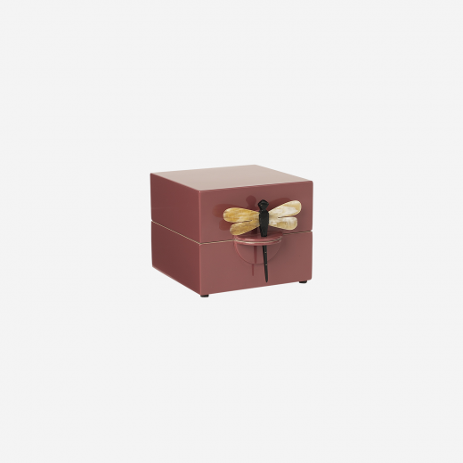 Lacquer box S warm red