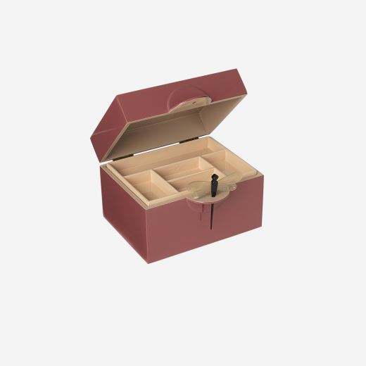 Lacquer box B warm red-01