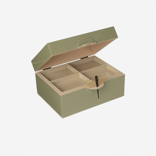 Lacquer box XL olive-01