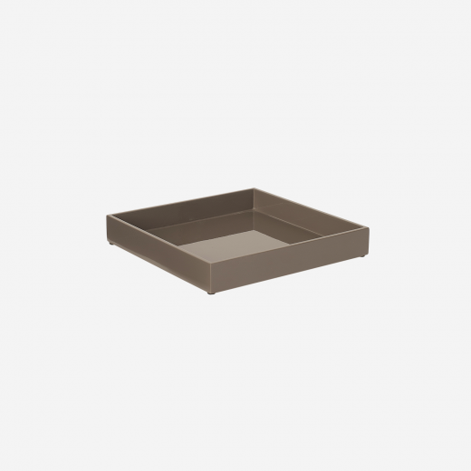 Lacquer tray 20x20 mocca