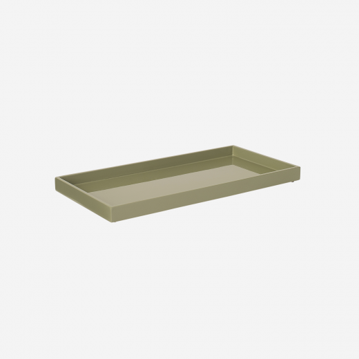 Lacquer tray 32x16 olive