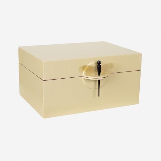 Lacquer box soft yellow, XL