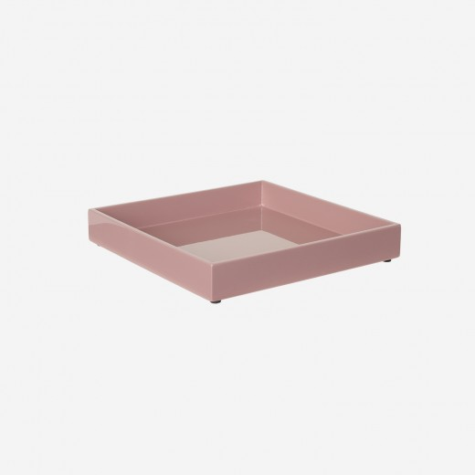 Lacquer tray 20x20 cm old rose