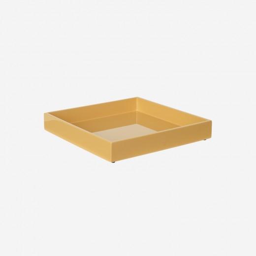 Lacquer tray 20x20 cm saffron