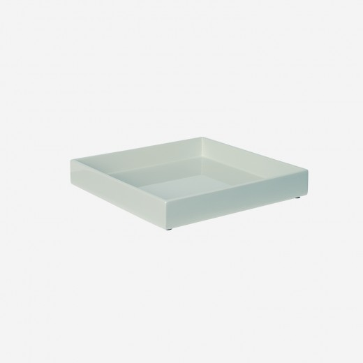 Lacquer tray 20x20 cm dusty green