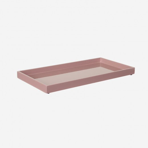 Lacquer tray 32x16 cm old rose
