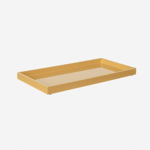 Lacquer tray 32x16 cm saffron