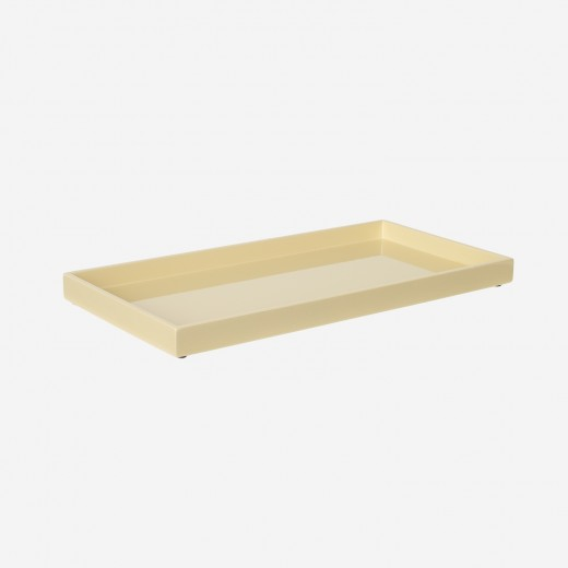 Lacquer tray 32x16 cm soft yellow