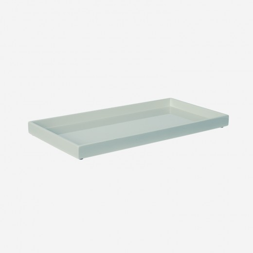 Lacquer tray 32x16 cm dusty green