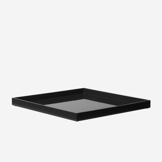 Lacquer tray 33x33 black