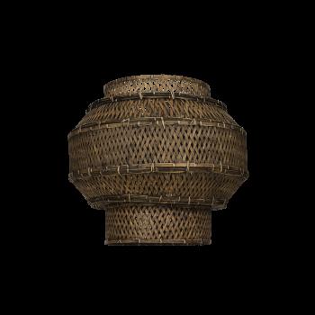 Lampshade Colonial, bamboo, black washed-20