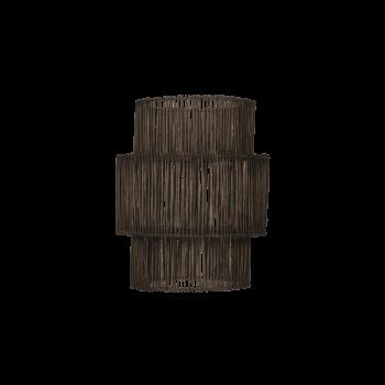 Lampeskærm, Rattan, black washed-20