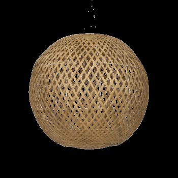 Lampeskærm, Rund bambus, nature, XL-20