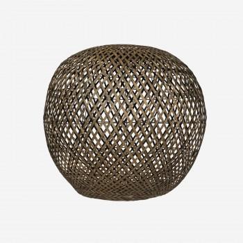 Lampshade, bamboo round, blackwashed, XL-20