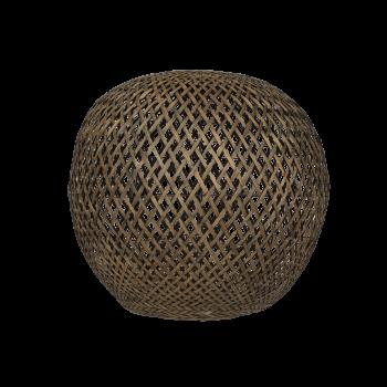 Lampeskærm, Rund bambus, Black washed, XL-20
